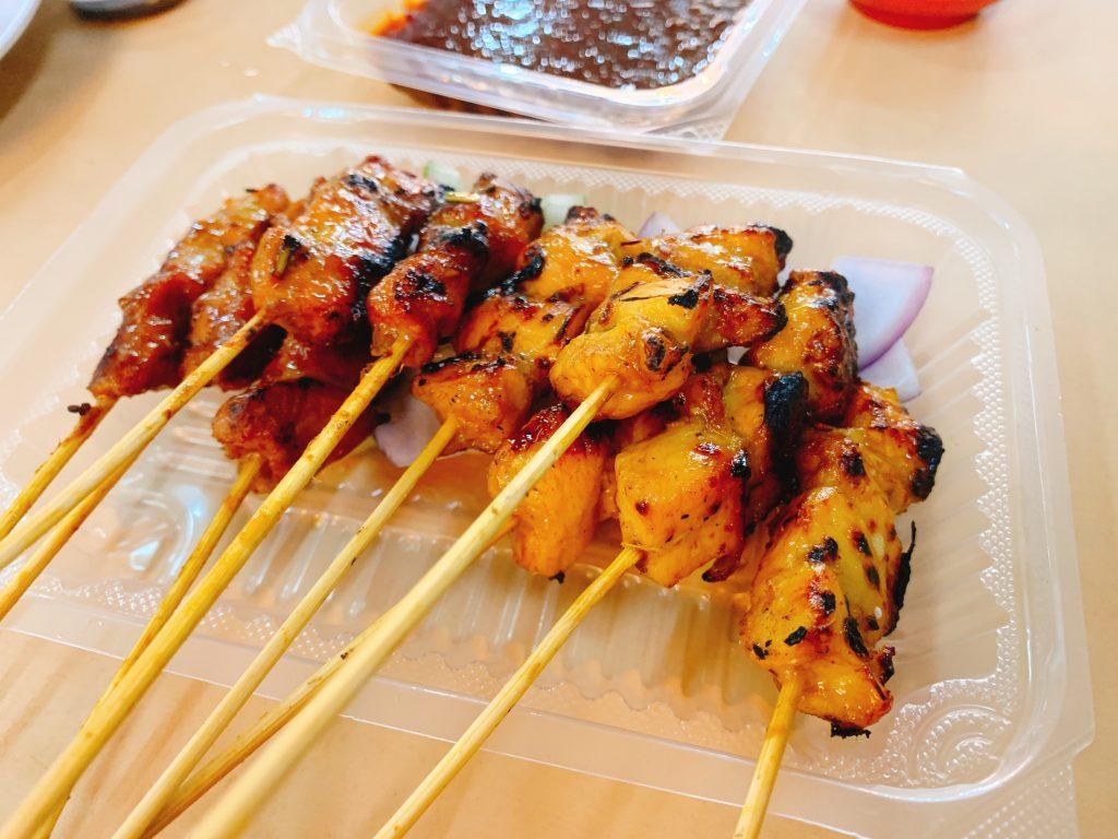 マレーシア屋台の串焼き