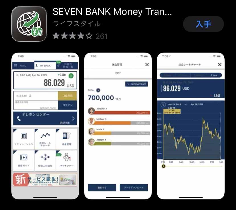 SEVEN BANK Money Transfer(セブン銀行公式)