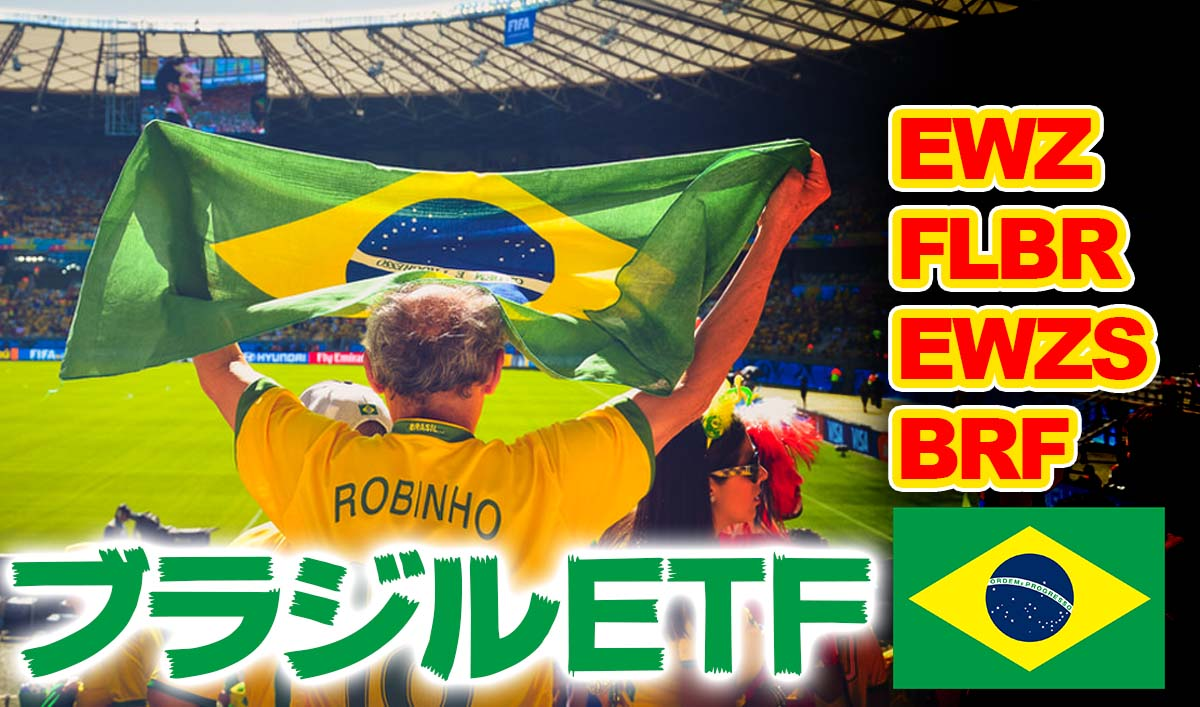 ブラジルETF比較【EWZ/FLBR/EWZS/BRF】おすすめ米国ETF