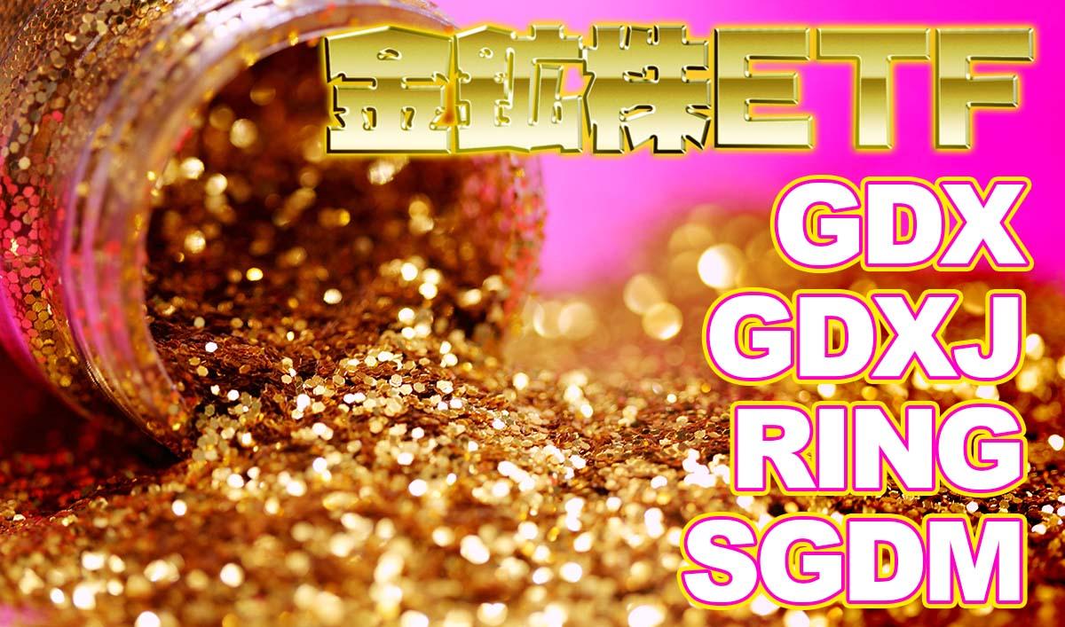 金鉱株ETF比較【GDX/GDXJ/RING/SGDM】おすすめ米国ETF