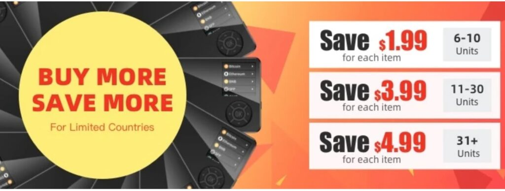 SafePal S1 Hardware Wallet のキャンペーン-大量購入割引